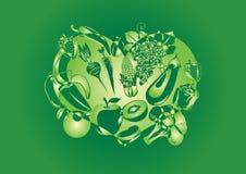 抽象菜果子例证 免版税库存图片