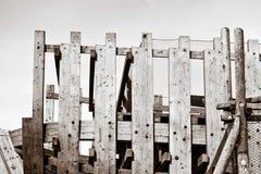 抽象葡萄酒木设计 免版税库存图片
