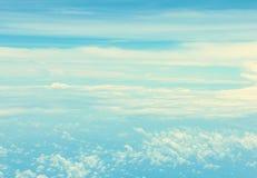 抽象蓝天和云彩 免版税库存照片