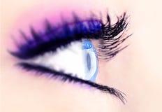 抽象蓝眼睛 免版税库存图片