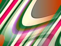 抽象蓝绿色桃红色橙色流体线背景,抽象五颜六色的几何 向量例证
