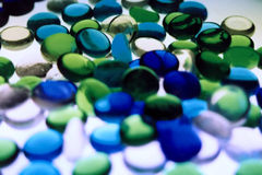抽象蓝绿色iii 免版税库存图片