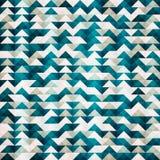 抽象蓝色三角无缝的样式 库存图片