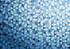 抽象蓝色三角样式背景墙纸 图库摄影
