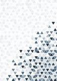 抽象蓝色三角样式背景墙纸 免版税库存照片