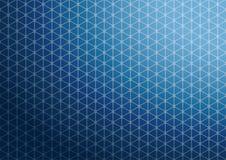 抽象蓝色三角样式背景墙纸 免版税图库摄影