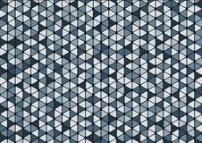抽象蓝色三角样式背景墙纸 库存照片