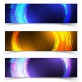 抽象蓝色五颜六色的网站倒栽跳水或横幅 库存照片