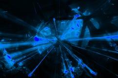 抽象蓝色光爆炸徒升 免版税库存图片