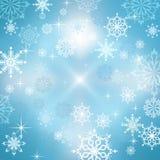 抽象蓝色冬天背景 免版税库存照片