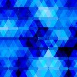 抽象蓝色几何背景 免版税库存照片