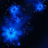 抽象蓝色分数维花 免版税图库摄影