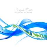 抽象蓝色发烟绿色波浪 库存图片