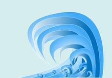 抽象蓝色向量通知 图库摄影