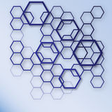 抽象蓝色和白色六角形样式背景 几何构思设计EPS10 库存图片