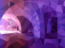 抽象蓝色和紫罗兰色三角背景 免版税库存图片