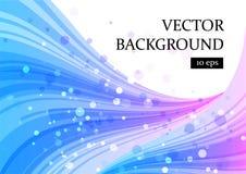 抽象蓝色和紫色在白色,曲线背景 免版税库存照片