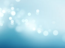 抽象蓝色圆bokeh背景 也corel凹道例证向量 免版税图库摄影