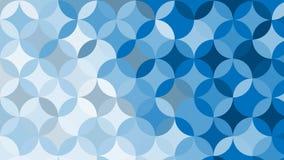 抽象蓝色圈子背景,传染媒介例证 免版税库存照片