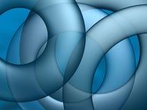 抽象蓝色圈子 库存图片