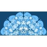 抽象蓝色塑造手画的背景 向量例证
