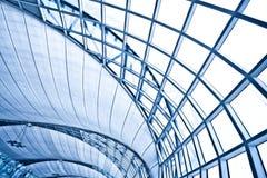 抽象蓝色壁角墙壁 免版税库存图片