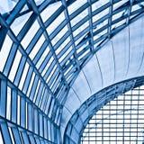 抽象蓝色壁角墙壁 免版税库存照片