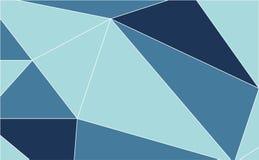 抽象蓝色多角形背景 也corel凹道例证向量 向量例证