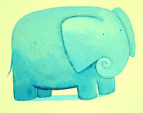 抽象蓝色大象 图库摄影