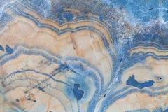 抽象蓝色幻想矿物的横断面 库存照片