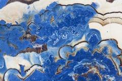 抽象蓝色幻想纤维锌矿的横断面 库存照片