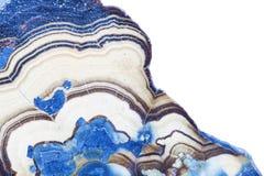 抽象蓝色幻想纤维锌矿的横断面 库存图片