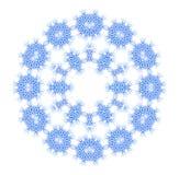 抽象蓝色形状 向量例证