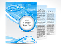抽象蓝色手册设计 库存图片