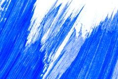 抽象蓝色手拉的丙烯酸酯的绘画创造性的艺术backgroun 库存图片