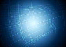 抽象蓝色技术行动背景 免版税库存图片