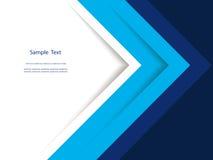 抽象蓝色报告盖子模板设计 免版税库存照片