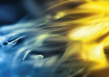 抽象蓝色挥动黄色 免版税库存图片