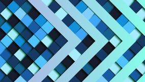 抽象蓝色方形的几何形状纸切开了横幅 库存照片