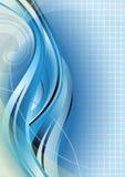 抽象蓝色曲线 库存照片
