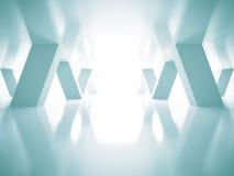 抽象蓝色未来派建筑学背景 免版税库存照片