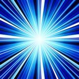 抽象蓝色条纹爆炸背景 免版税库存图片