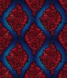 抽象蓝色模式红色无缝 免版税图库摄影