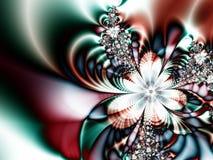 抽象蓝色模式红色星形 免版税库存图片