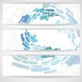 抽象蓝色横幅。 免版税图库摄影