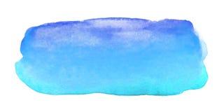 抽象蓝色水彩刷子冲程 库存图片