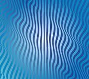 抽象蓝色波向量 免版税库存图片