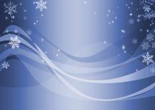 抽象蓝色波浪冬天 免版税库存照片