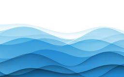 抽象蓝色波浪-数据流概念 向量 库存图片