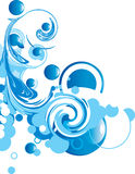 抽象蓝色漩涡 库存例证